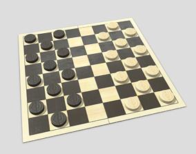 3D model VR / AR ready Checkers