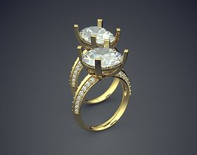 3D print model Classic Golden Engagement Ring 1