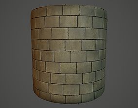 Stone wall material 3D