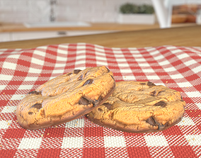 Chocolate Cookie Photoscan 3D model low-poly