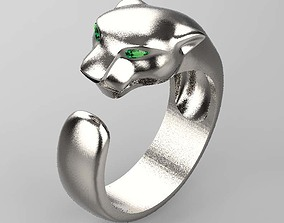 jewelry 3D print model panther ring