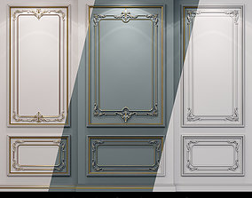 Wall molding 21 Boiserie classic panels 3D model