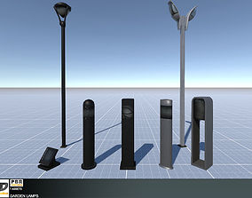 3D model Garden Lamps