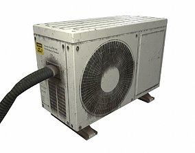 Airconditioner Unit Low Poly 3D asset