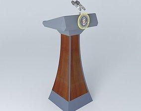 Presidential Falcon Lectern 3D model