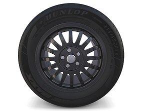 3D model Generic Dark Alloy Wheel