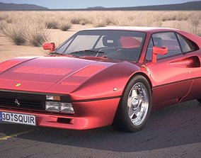 3D Ferrari 288 GTO 1984-1987 desert studio