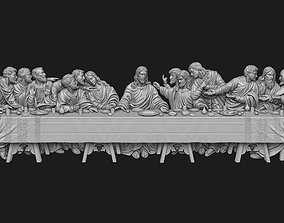 Last Supper Bas-Relief No Background 3D print model