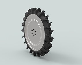3D model Wheel from swamp buggy