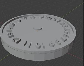 Fish Commies 0-20 Wound Tracker 3D print model dial