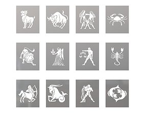 Zodiac wall pictures 3D print model