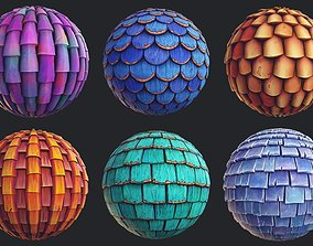 3D model Stylized Roof Materials