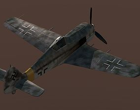 Focke Fulf FW-190 3D model game-ready