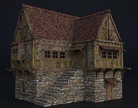 3D model OLD MEDIEVAL BUILDING 03