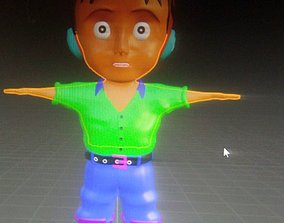 3D model Cute Animated Fantasy Boy Character Gameready