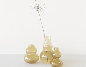 vase dry lilly set 3D