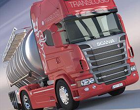 Scania R 730 V8 ADR Tanker SemiTrailer 3D model
