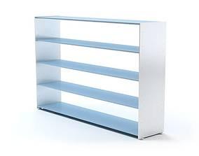 Blue And White Book Shelf 3D
