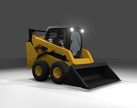 246D Skid Steer Loader - CAT 246D Hard Surface 3D Model