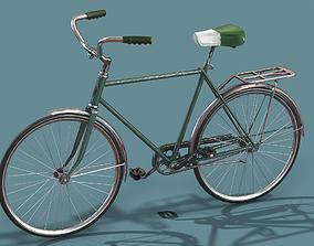 3D asset Vintage bicycle Schwinn Low poly