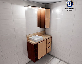 3D model game-ready Bathroom