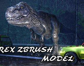 VR / AR ready 3D Tyrannosaurus Rex Zbrush T-Rex
