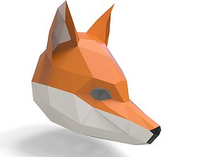 fox mask for 3D printing and pepakura