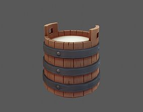 Hand Painted Milk Bucket 3D model low-poly
