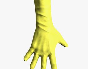3D asset yellow gloves