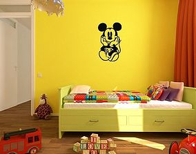 3D printable model Mickey Kids and baby room wall art 1