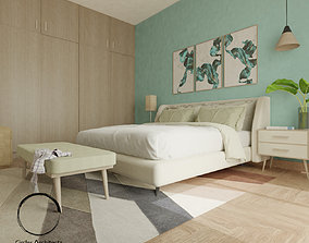 Pastel Bedroom 3D asset