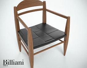 Billiani Vincent VG lounge chair teak 3D