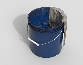 3D model Bucket with rag