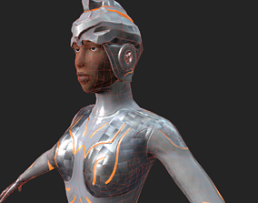Female Robot Character 3D asset