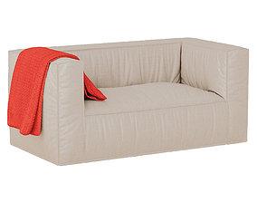 3D model Straight sofa Loft