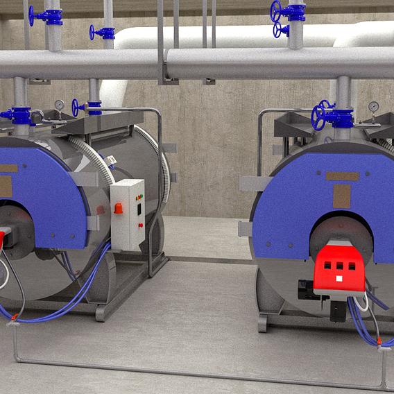 boiler in powerhouse