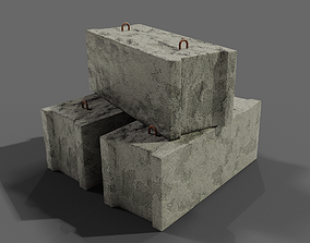 Concrete block scan 3D model