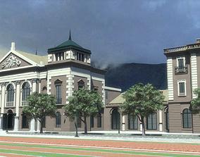 3D Railway station 1910 - Bratislava Slovakia