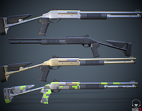 Benelli m4 Shotgun 3D model police