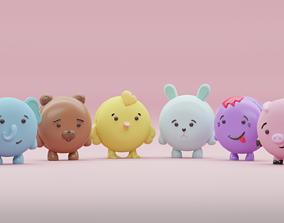 3D printable model macaroon characters