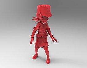 3D printable model Officer Jenny from pokemon saga