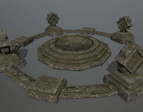 temple 1 3D asset game-ready