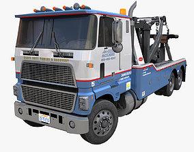 80s American industrial tow truck 3D model