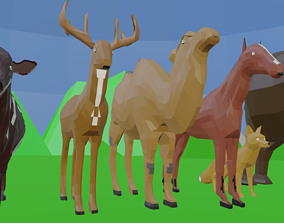 game-ready Animal Collection 3D lowpay 3D