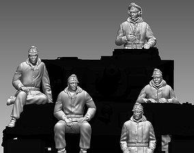 crew 3D printable model German Tank Crew