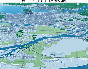 3D Vancouver with Terrain