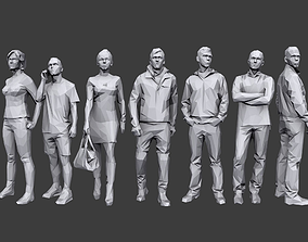 Lowpoly People Casual Pack 3D model low-poly