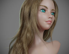 3D model Mannequin with long hair for production render