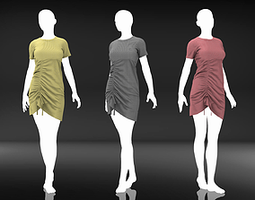 Female Cloth - 16 Marvelous Designer Simple Dress 3D