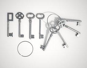 3D Set Of Old Keys